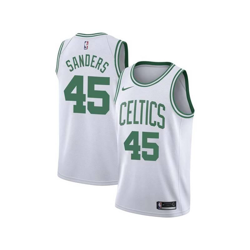 Frankie Sanders Twill Basketball Jersey -Celtics #45 Sanders Twill Jerseys, FREE SHIPPING