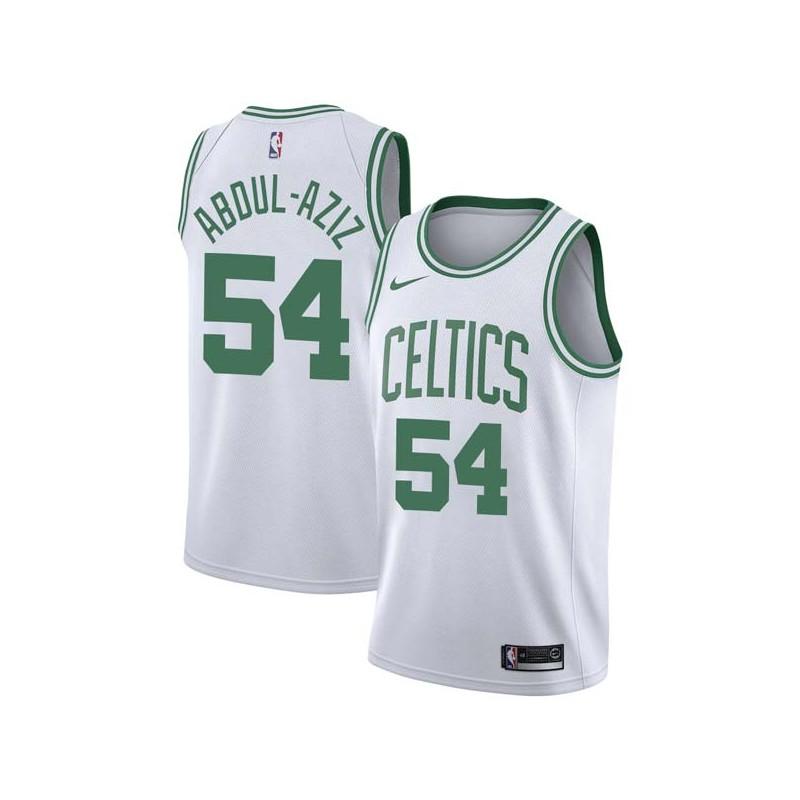 Zaid Abdul-Aziz Twill Basketball Jersey -Celtics #54 Abdul-Aziz Twill Jerseys, FREE SHIPPING