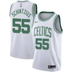 Dwayne Schintzius Twill Basketball Jersey -Celtics #55 Schintzius Twill Jerseys, FREE SHIPPING