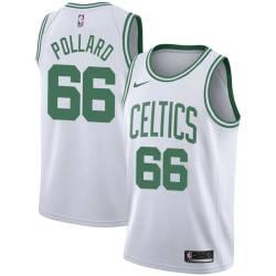 Scot Pollard Twill Basketball Jersey -Celtics #66 Pollard Twill Jerseys, FREE SHIPPING