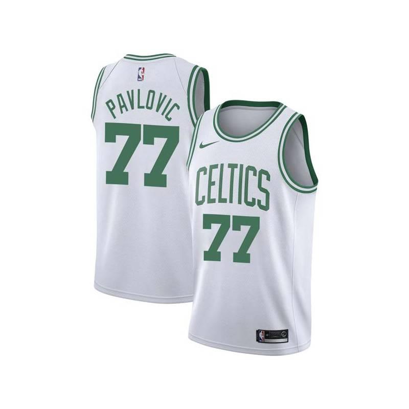 Sasha Pavlovic Twill Basketball Jersey -Celtics #77 Pavlovic Twill Jerseys, FREE SHIPPING