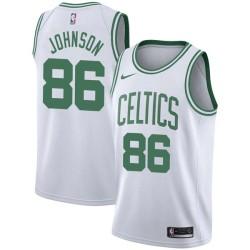 Chris Johnson Twill Basketball Jersey -Celtics #86 Johnson Twill Jerseys, FREE SHIPPING