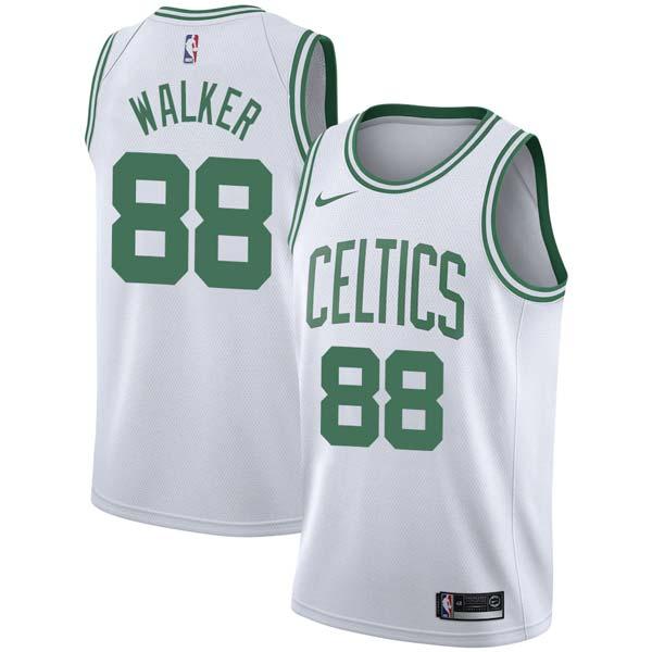 City Edition Antoine Walker #8 Boston Celtics Basketball Maillots Jersey Blanc