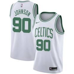 Amir Johnson Twill Basketball Jersey -Celtics #90 Johnson Twill Jerseys, FREE SHIPPING