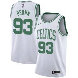 P.J. Brown Twill Basketball Jersey -Celtics #93 Brown Twill Jerseys, FREE SHIPPING