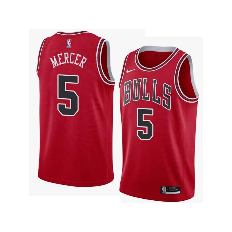 Ron Mercer Twill Basketball Jersey -Bulls #5 Mercer Twill Jerseys, FREE SHIPPING