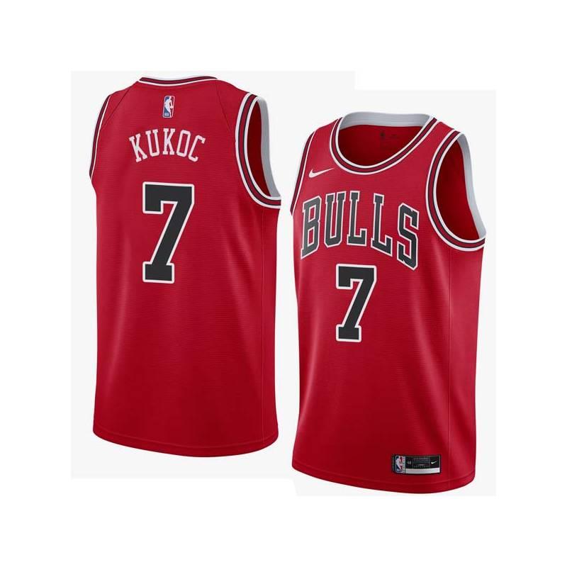 Toni Kukoc Twill Basketball Jersey -Bulls #7 Kukoc Twill Jerseys, FREE SHIPPING