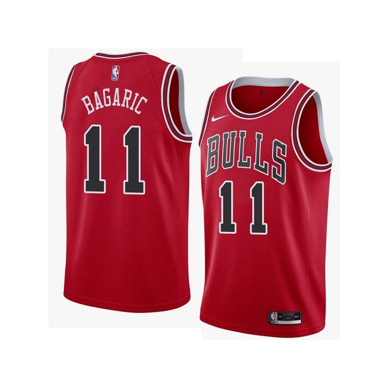 Dalibor Bagaric Twill Basketball Jersey -Bulls #11 Bagaric Twill Jerseys, FREE SHIPPING