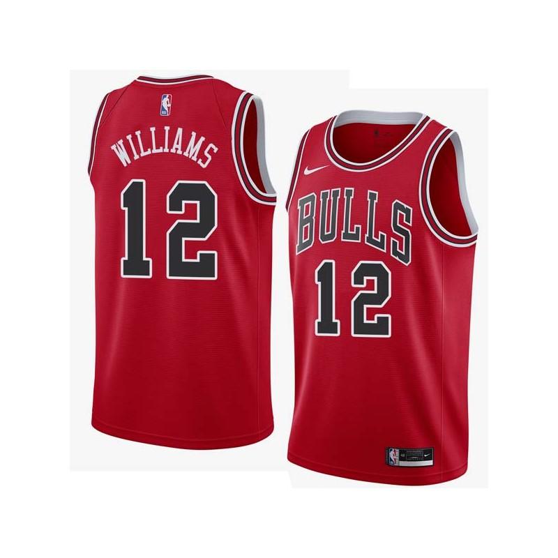 Corey Williams Twill Basketball Jersey -Bulls #12 Williams Twill Jerseys, FREE SHIPPING