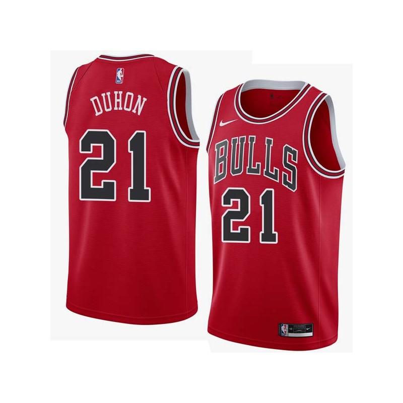 Chris Duhon Twill Basketball Jersey -Bulls #21 Duhon Twill Jerseys, FREE SHIPPING