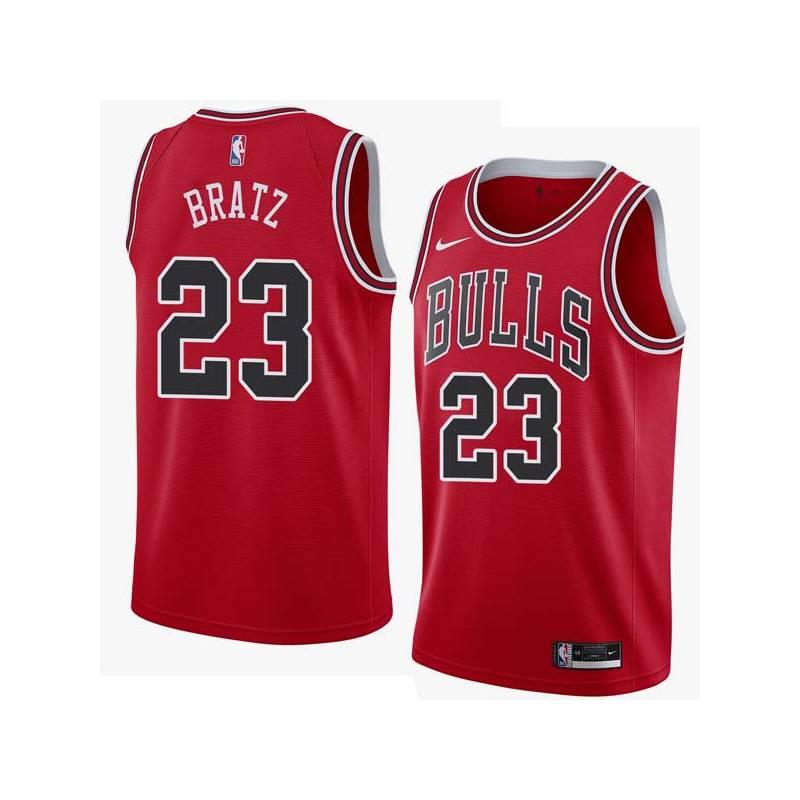 Mike Bratz Twill Basketball Jersey -Bulls #23 Bratz Twill Jerseys, FREE SHIPPING