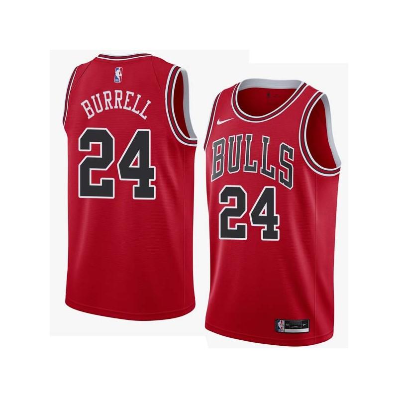 Scott Burrell Twill Basketball Jersey -Bulls #24 Burrell Twill Jerseys, FREE SHIPPING