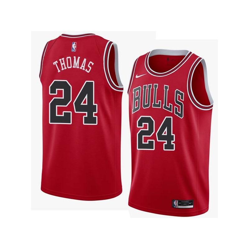 Tyrus Thomas Twill Basketball Jersey -Bulls #24 Thomas Twill Jerseys, FREE SHIPPING