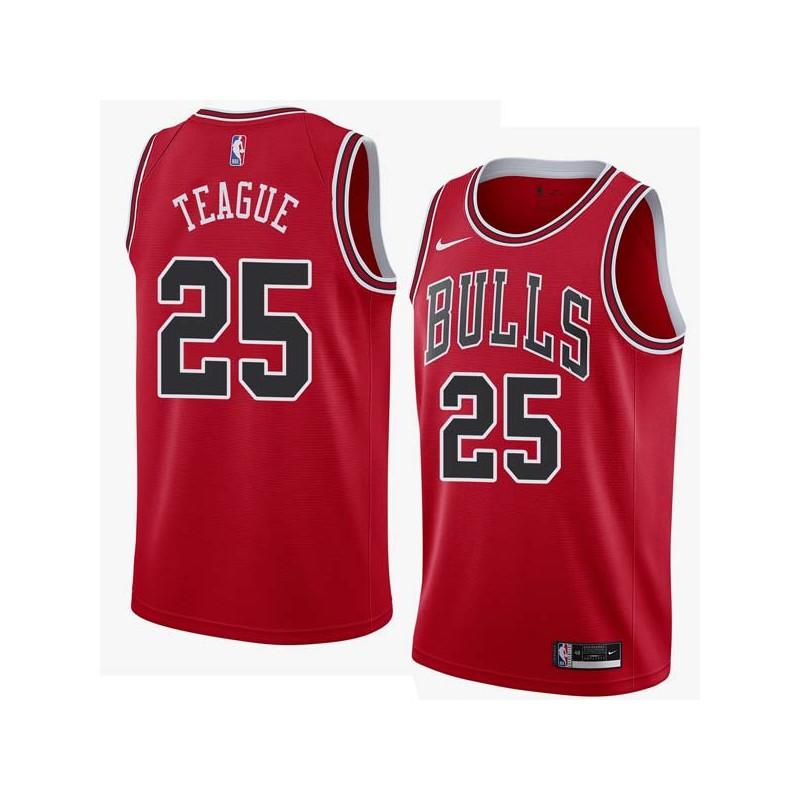 Marquis Teague Twill Basketball Jersey -Bulls #25 Teague Twill Jerseys, FREE SHIPPING