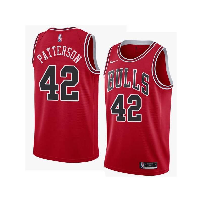 Steve Patterson Twill Basketball Jersey -Bulls #42 Patterson Twill Jerseys, FREE SHIPPING