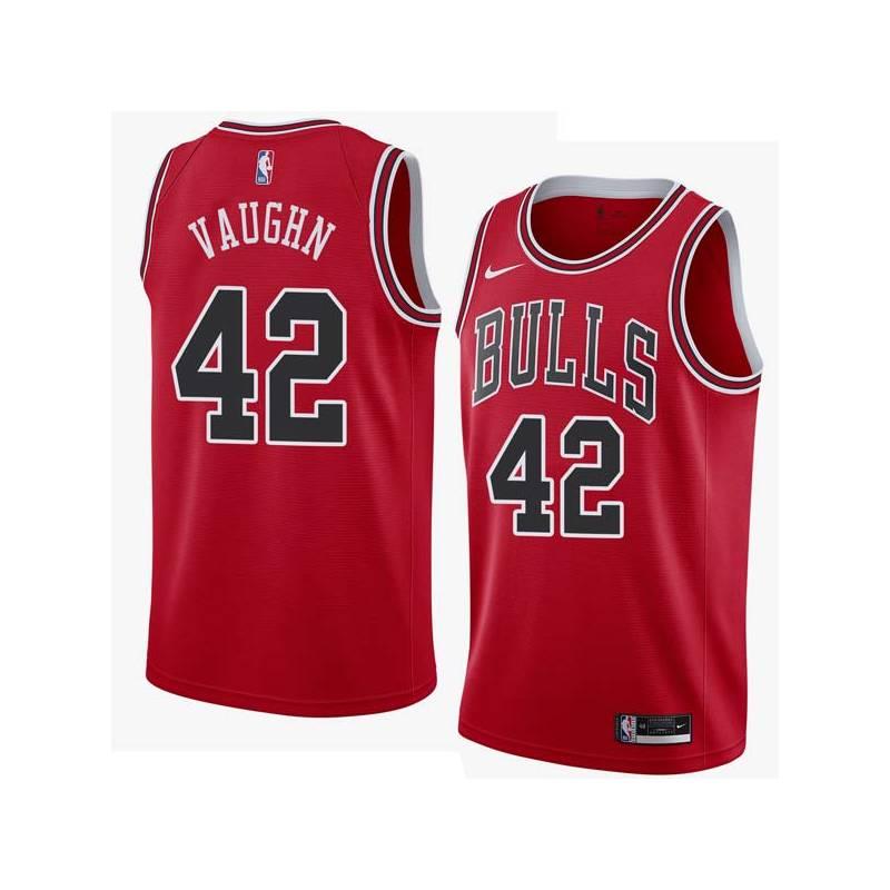 David Vaughn Twill Basketball Jersey -Bulls #42 Vaughn Twill Jerseys, FREE SHIPPING