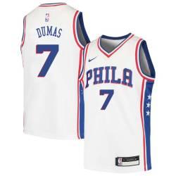 Richard Dumas Twill Basketball Jersey -76ers #7 Dumas Twill Jerseys, FREE SHIPPING