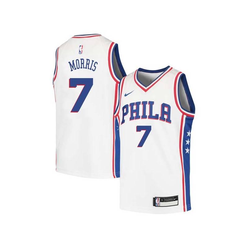 Darius Morris Twill Basketball Jersey -76ers #7 Morris Twill Jerseys, FREE SHIPPING