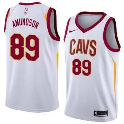 Lou Amundson Twill Basketball Jersey -Cavaliers #89 Amundson Twill Jerseys, FREE SHIPPING