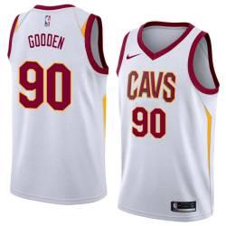 Drew Gooden Twill Basketball Jersey -Cavaliers #90 Gooden Twill Jerseys, FREE SHIPPING