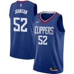 George Johnson Twill Basketball Jersey -Clippers #52 Johnson Twill Jerseys, FREE SHIPPING