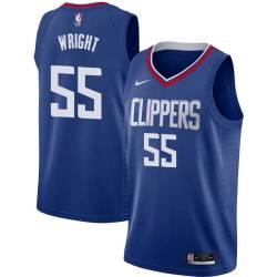 Lorenzen Wright Twill Basketball Jersey -Clippers #55 Wright Twill Jerseys, FREE SHIPPING