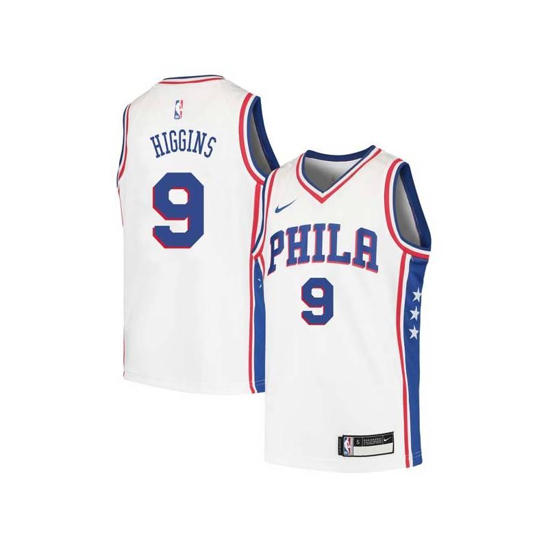 Sean Higgins Twill Basketball Jersey -76ers #9 Higgins Twill Jerseys, FREE SHIPPING
