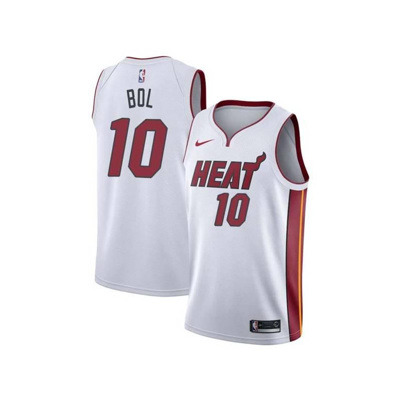 Manute Bol Twill Basketball Jersey -Heat  10 Bol Twill Jerseys 2a5df24a9