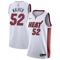 Samaki Walker Twill Basketball Jersey -Heat #52 Walker Twill Jerseys, FREE SHIPPING