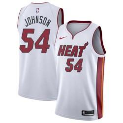 Ken Johnson Twill Basketball Jersey -Heat #54 Johnson Twill Jerseys, FREE SHIPPING