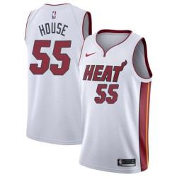 Eddie House Twill Basketball Jersey -Heat #55 House Twill Jerseys, FREE SHIPPING