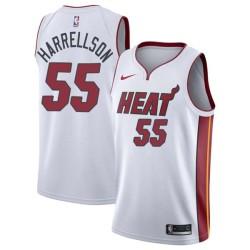 Josh Harrellson Twill Basketball Jersey -Heat #55 Harrellson Twill Jerseys, FREE SHIPPING