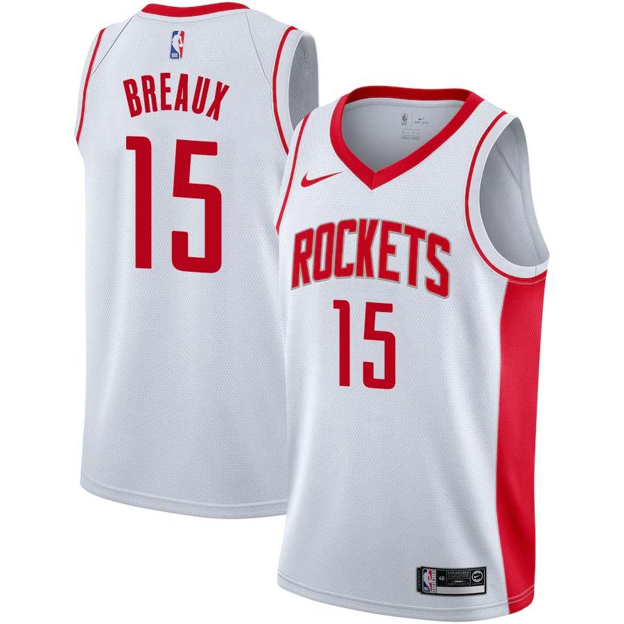 Tim Breaux Rockets #15 Twill Jerseys free shipping
