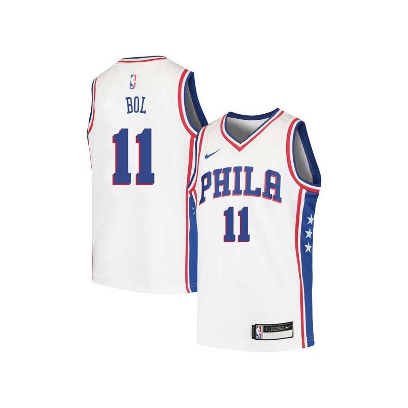 Manute Bol Twill Basketball Jersey -76ers  11 Bol Twill Jerseys 0d1b57905