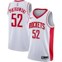 Eric Piatkowski Twill Basketball Jersey -Rockets #52 Piatkowski Twill Jerseys, FREE SHIPPING