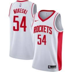 Paul Mokeski Twill Basketball Jersey -Rockets #54 Mokeski Twill Jerseys, FREE SHIPPING