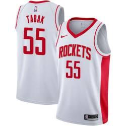 Zan Tabak Twill Basketball Jersey -Rockets #55 Tabak Twill Jerseys, FREE SHIPPING