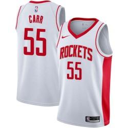 Antoine Carr Twill Basketball Jersey -Rockets #55 Carr Twill Jerseys, FREE SHIPPING