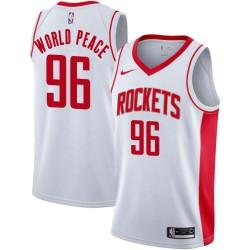 Metta World Peace Twill Basketball Jersey -Rockets #96 World Peace Twill Jerseys, FREE SHIPPING