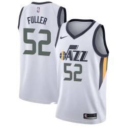 Todd Fuller Twill Basketball Jersey -Jazz #52 Fuller Twill Jerseys, FREE SHIPPING