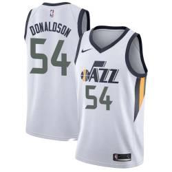 James Donaldson Twill Basketball Jersey -Jazz #54 Donaldson Twill Jerseys, FREE SHIPPING