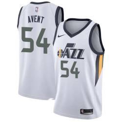 Anthony Avent Twill Basketball Jersey -Jazz #54 Avent Twill Jerseys, FREE SHIPPING