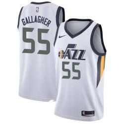 Chad Gallagher Twill Basketball Jersey -Jazz #55 Gallagher Twill Jerseys, FREE SHIPPING