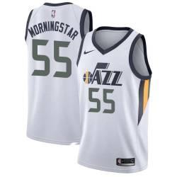 Darren Morningstar Twill Basketball Jersey -Jazz #55 Morningstar Twill Jerseys, FREE SHIPPING