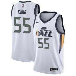 Antoine Carr Twill Basketball Jersey -Jazz #55 Carr Twill Jerseys, FREE SHIPPING
