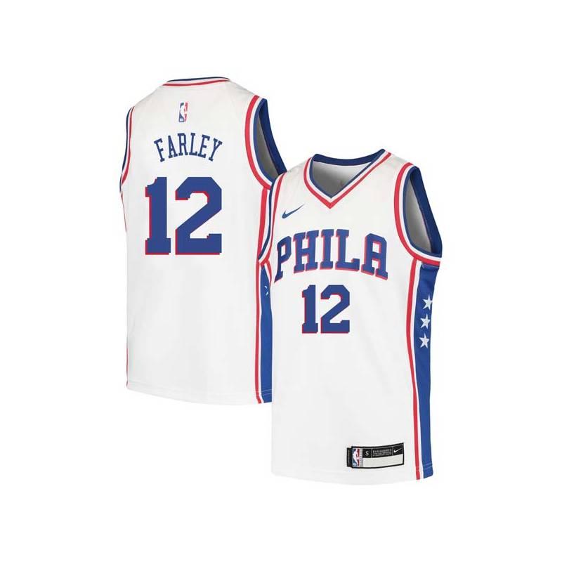 Dick Farley Twill Basketball Jersey -76ers #12 Farley Twill Jerseys, FREE SHIPPING