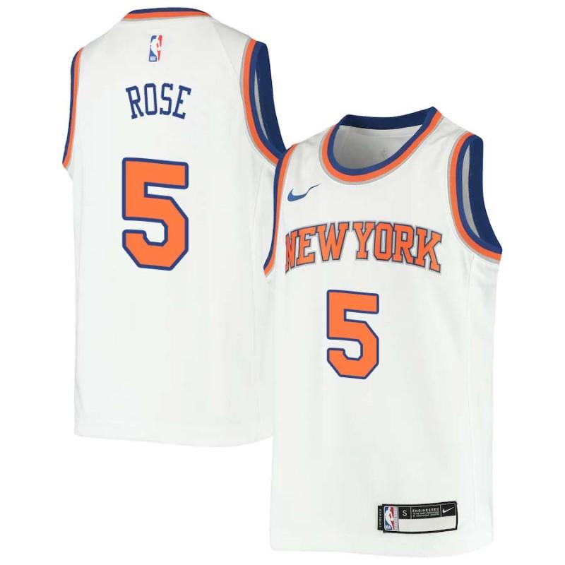 new style 777d7 87dd9 Jalen Rose Knicks #5 Twill Jerseys free shipping