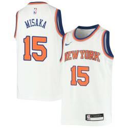 Wat Misaka Twill Basketball Jersey -Knicks #15 Misaka Twill Jerseys, FREE SHIPPING