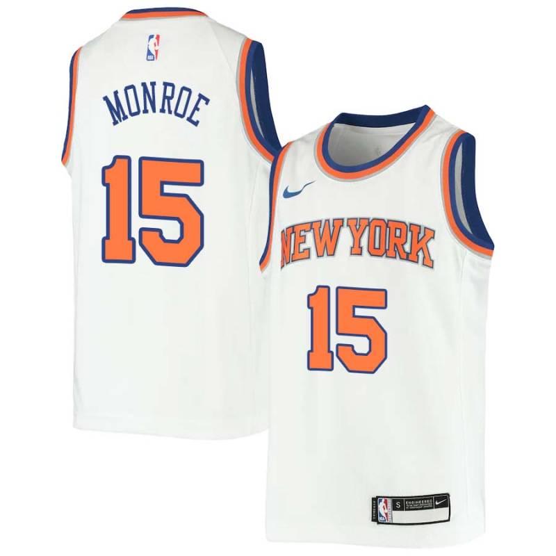 watch a72a9 f77c3 Earl Monroe Knicks #15 Twill Jerseys free shipping