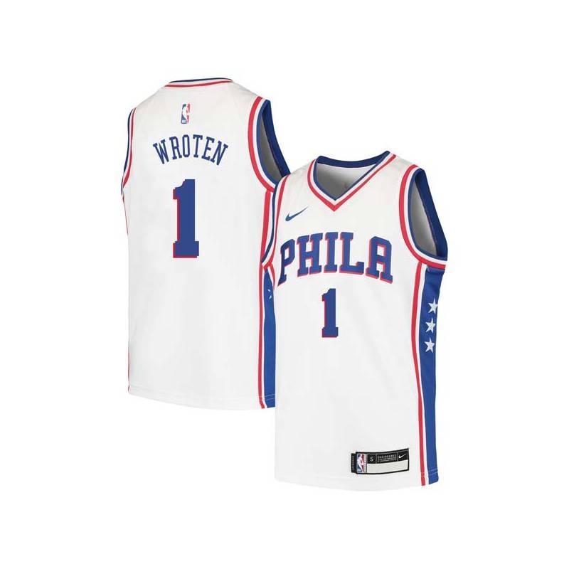 Tony Wroten Twill Basketball Jersey -76ers #1 Wroten Twill Jerseys, FREE SHIPPING